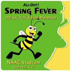 2019 All-Out Spring Fever 1 / 5 / 10 / Half logo